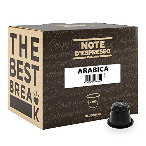 Note D'Espresso - Cápsulas compatibles con cafeteras Nespresso*, 5,6 g (caja de 100 unidades)