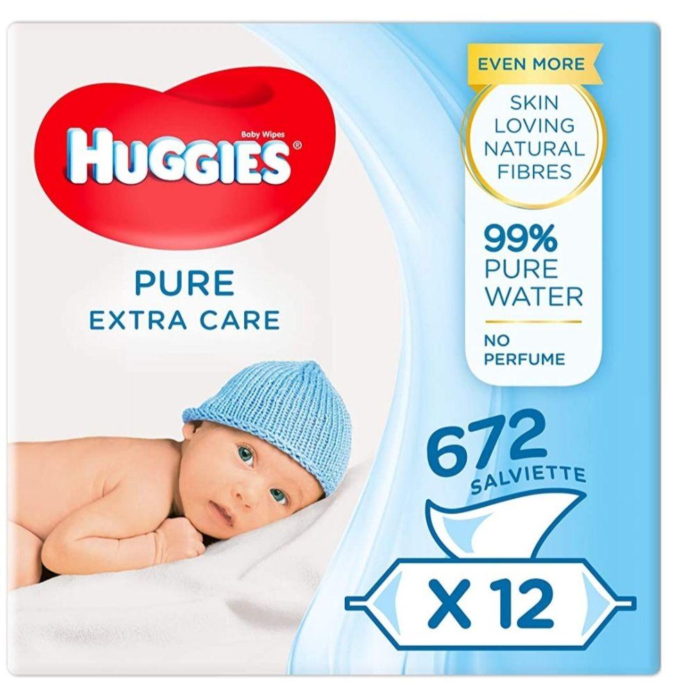 Huggies Pure Extra Care 24 Paquetes de 56 ud 1344 Toallitas (Recurrente)