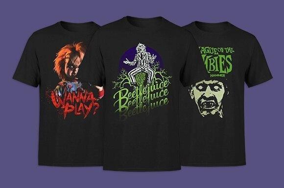2 Camisetas frikis de TERROR por solo 19,99 € en Zavvi