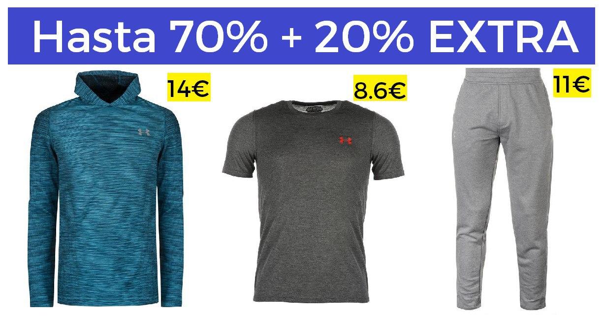 Under Armour hasta 70% +20% EXTRA