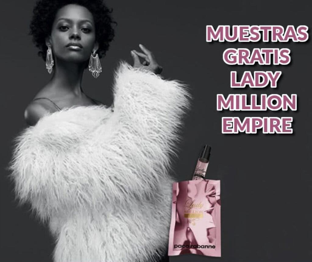 MUESTRAS GRATIS LADY MILLION EMPIRE DE PACO RABANNE