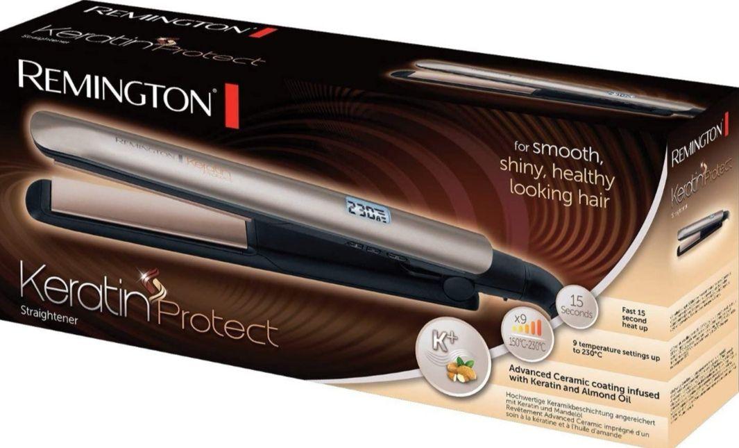 Remington Keratin Protect - Plancha de Pelo, Cerámica, Digital, Keratina y Aceite de Almendras (Precio Mínimo)