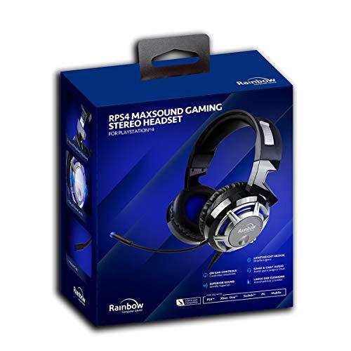 Rainbow Maxsound Auriculares Gaming para PS4/XboxOne/Switch/PC