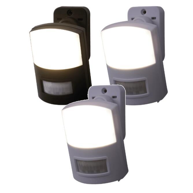 Pack de 3 Lámparas LED con sensor de movimiento.Incluye soprte de pared con articulación esférica