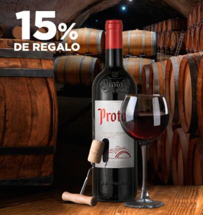 15% de regalo en vinos y licores