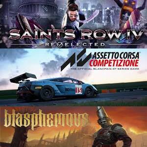 Juega gratis Blasphemous, Assetto Corsa y Saints Row IV (XBOX)