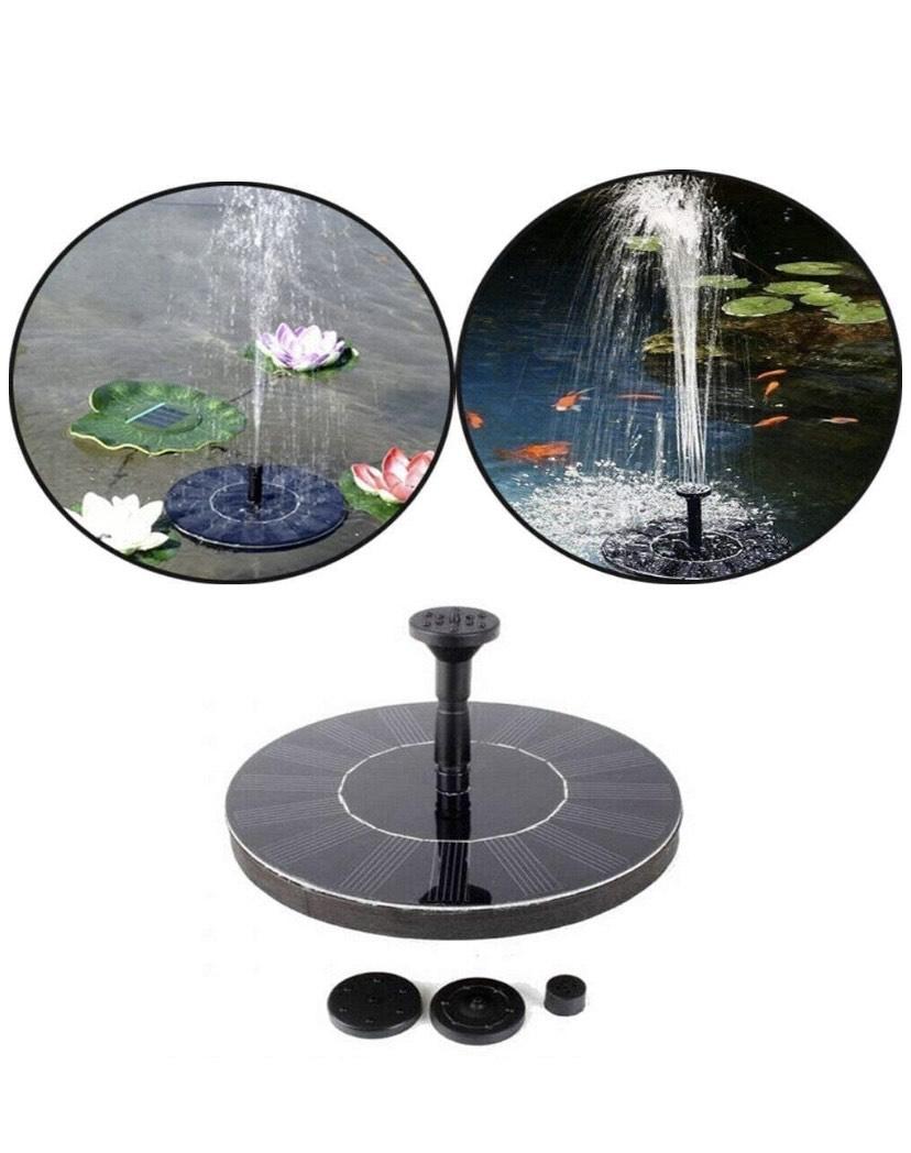 Fuente Solar Bomba de estanque Bomba Exterior para Jardín,