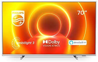 "Smart Tv 4K UHD Ambilight Philips de 70"""