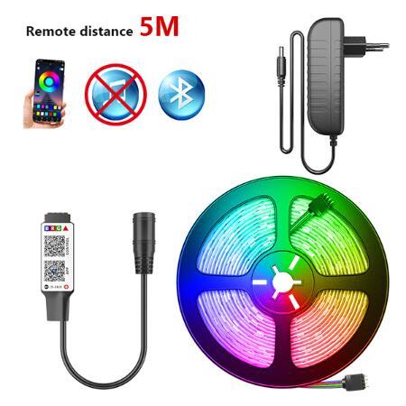 Tira de luces LED RGB Bluetooth 5M Control de música Bluetooth