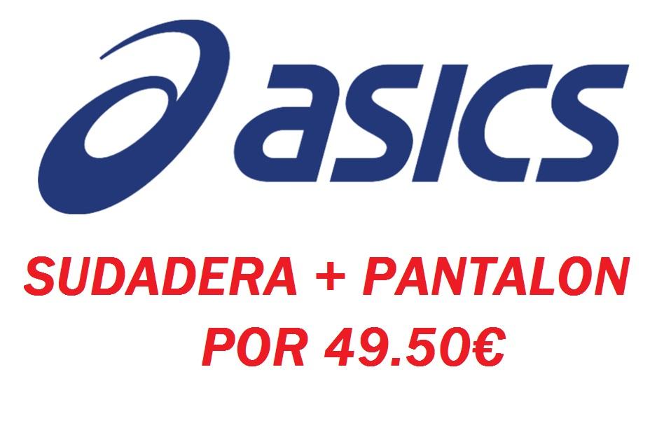 SUDADERA ASICS + PANTALON CHANDAL ASICS por 49.50€ en OUTLET-ASICS