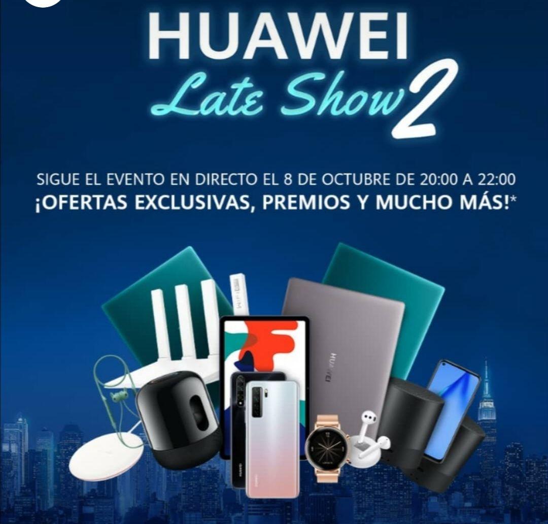 Multiples ofertas de Huawei solo hasta las 22:00