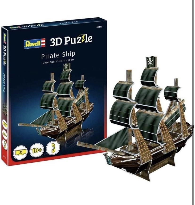 Revell- Barco Pirata 3D Puzzle