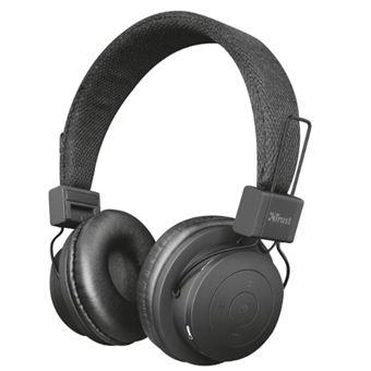 Auriculares Bluetooth Trust Urban Leva Negro