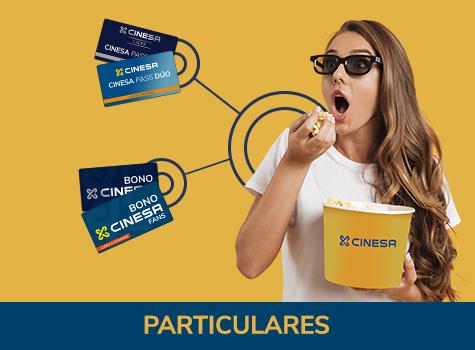 Bonos CinesaPass desde 3,90€ la entrada.