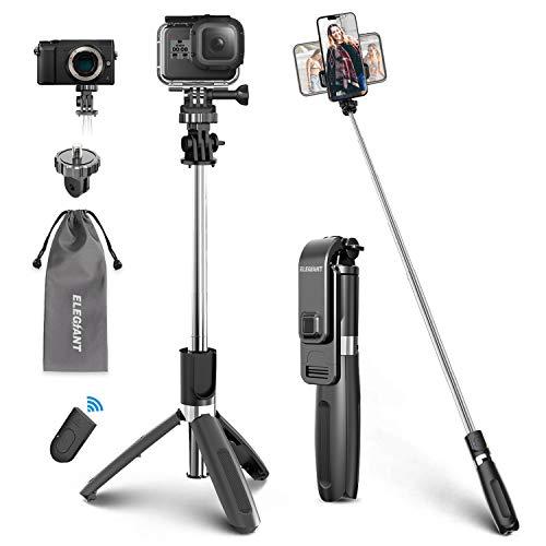 ELEGIANT Palo Selfie Trípode Bluetooth, 4 en 1