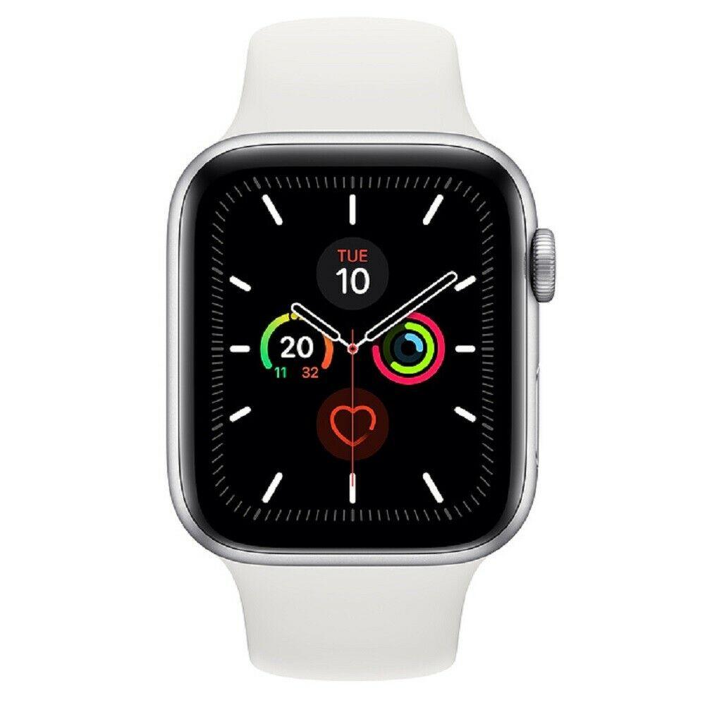 Apple Watch Series 5 GPS 44mm Plateado Aluminum Sport Band Caja Blanca