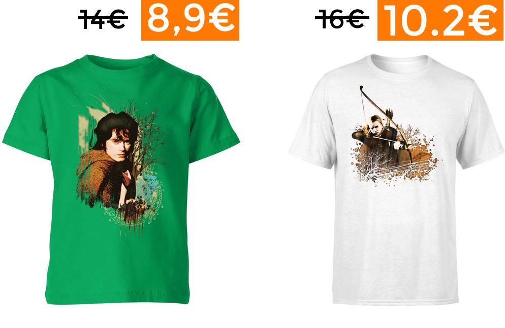 40% de dto en camisetas de EL Señor de los Anillos (envío gratis)