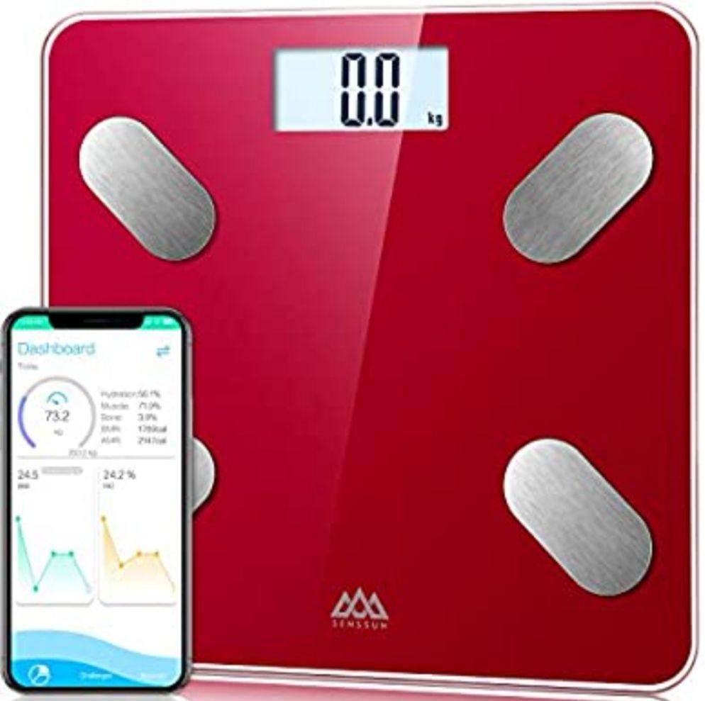 Bascula de Baño Digital bluetooth,Analiza la composición corporal,con 13 Funciones,IMC/músculo/grasa corporal/masa ósea (Precio Mínimo)
