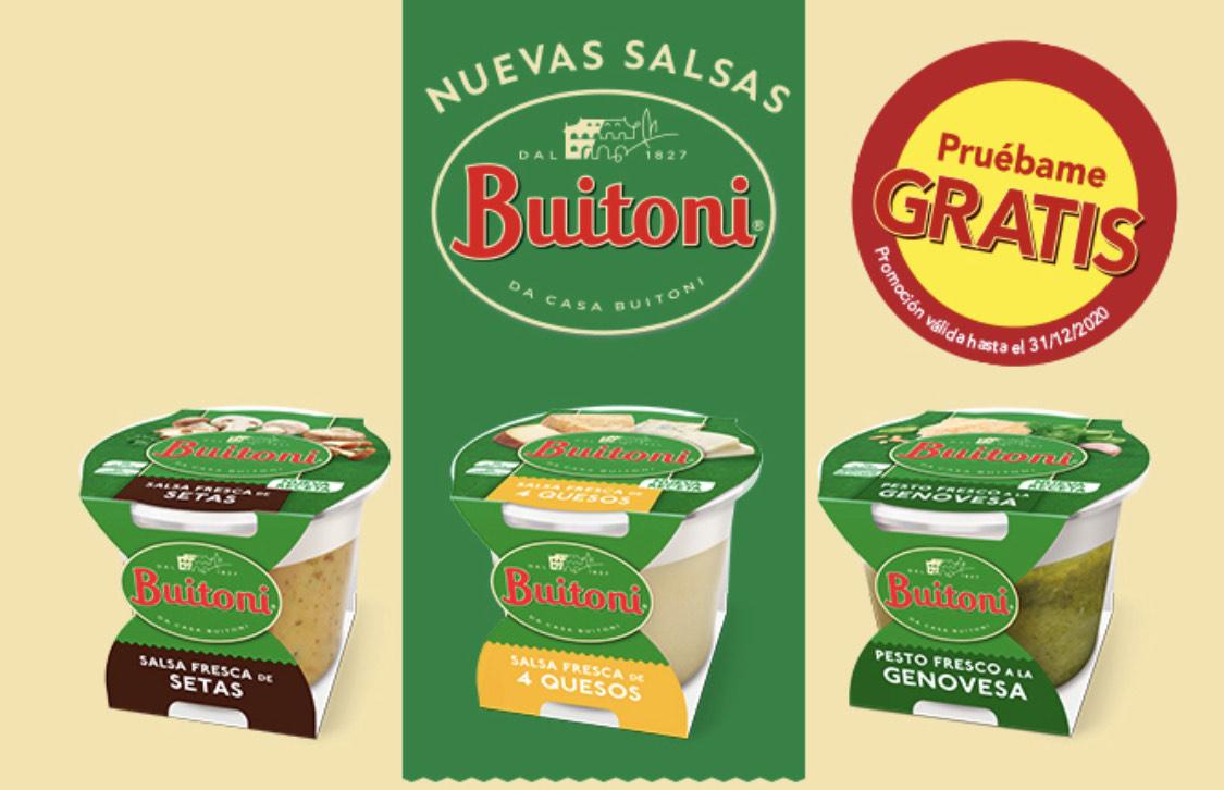 Nuevas salsa Buitoni Gratis (Reembolso)