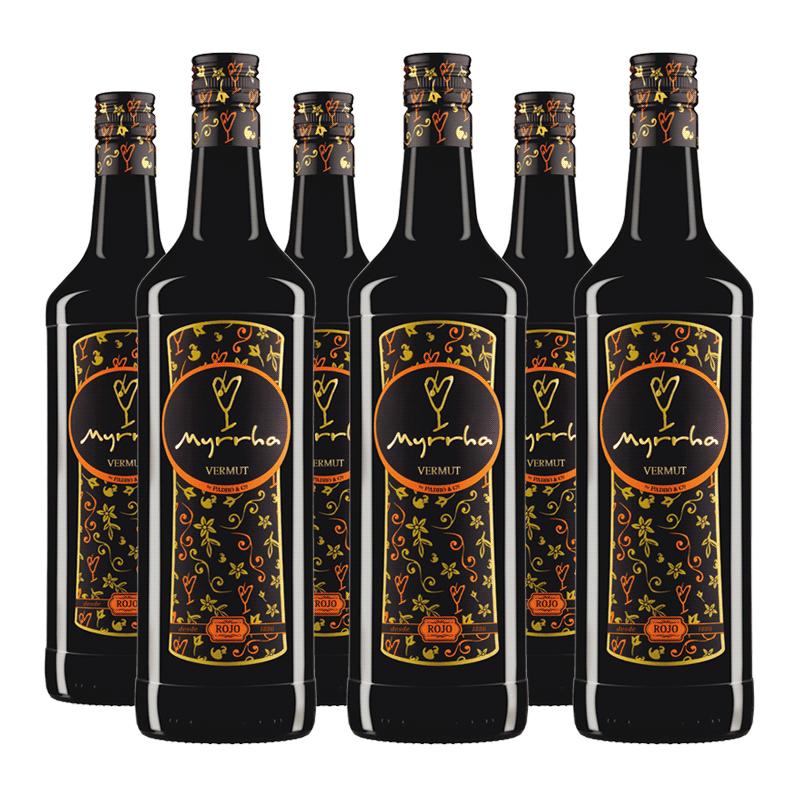 Caja Vermut Myrrha Rojo (6 botellas de 1 litro)