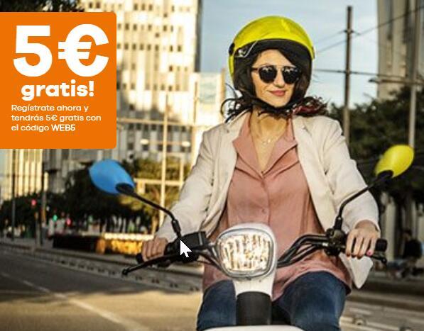 5€ gratis en eCooltra para nuevos usuarios