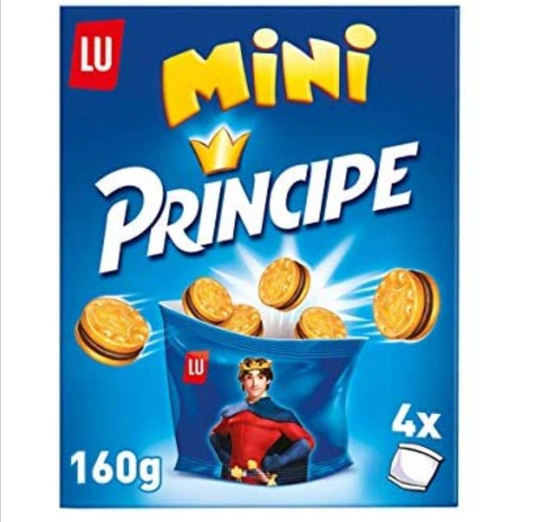 Príncipe Mini - Galletas Rellenas de Chocolate con Leche en Formato Mini - 4 Bolsitas para Llevar, 160 g
