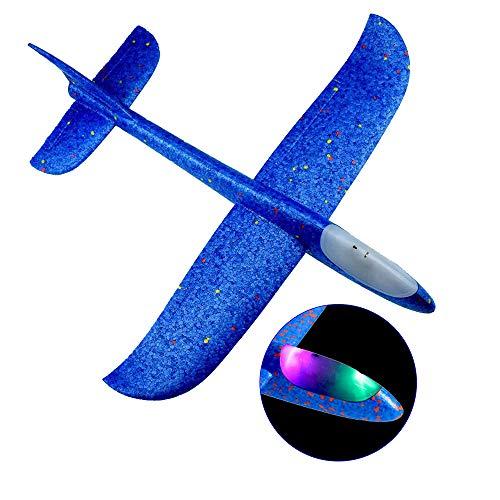 Ajcoflt Aviones Planeador,Avión de Lanzamiento Volador con luz LED de Destello
