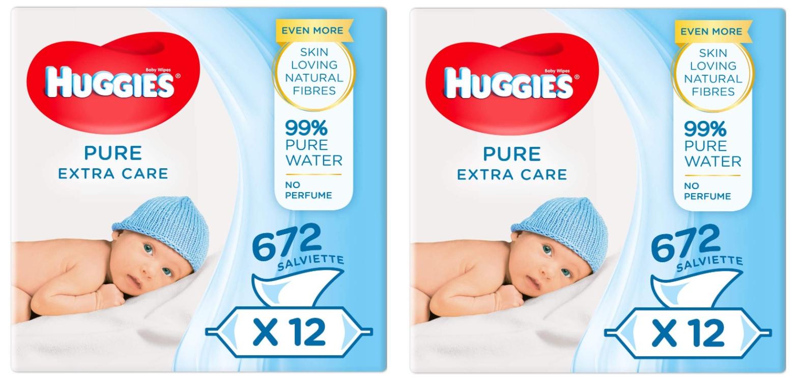 Toallitas Huggies Pure 24 paquetes solo 13€