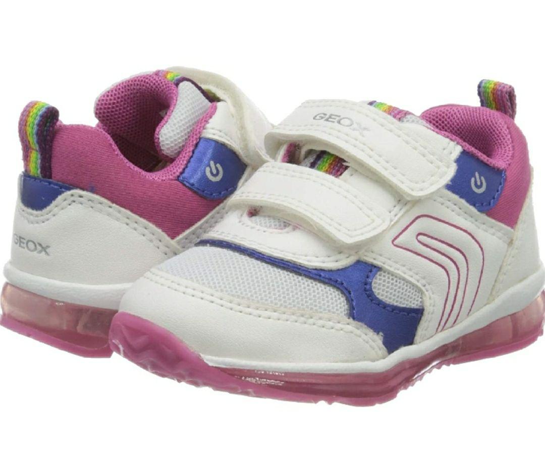 TALLA 23 - Geox B Todo Girl B, Zapatillas para Bebés, con luces en la suela