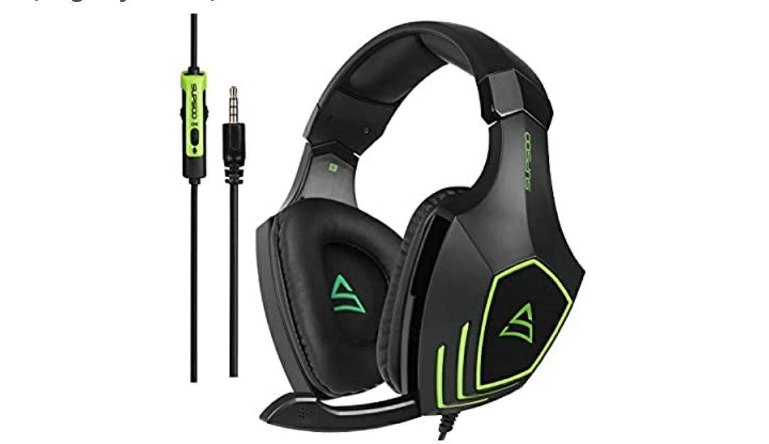 SUPSOO G820 Xbox One PS4 Estéreo Juego Auriculares Bass Gaming Headsets con micrófono de aislamiento de ruido