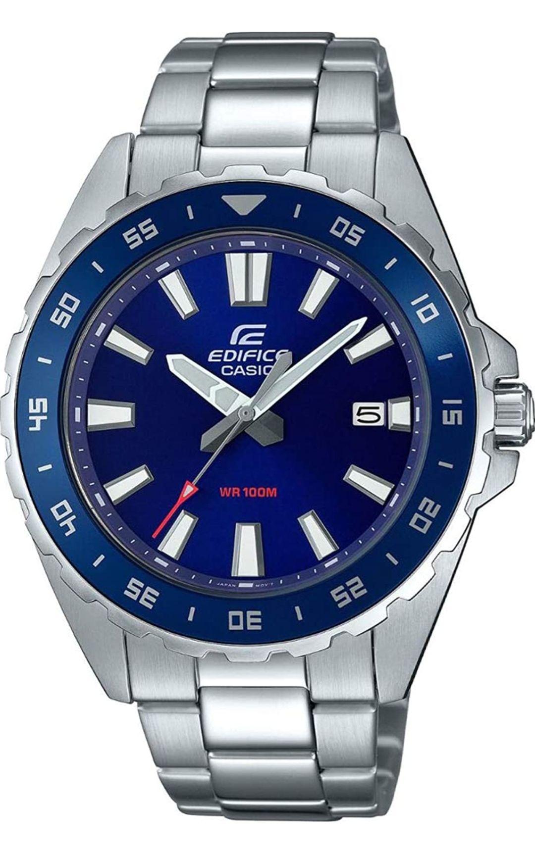 Casio EFV-130D - Reloj de Cuarzo con Correa de Acero Inoxidable