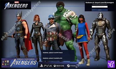 Marvel's Avengers Código Precompra Legacy Outfit y Placa de nombre Multiplataforma