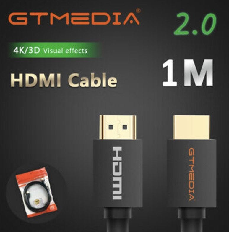 Cable HDMI 2.0 1M Alta Resolución Conectores Bañado Oro Full HD 4K Mach