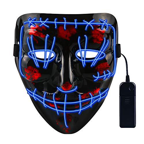 Máscara LED 3 modos iluminación 6,49€ y recíbela antes de Halloween con 1€ de regalo para futuras compras en Amazon. 2 modelos disponibles