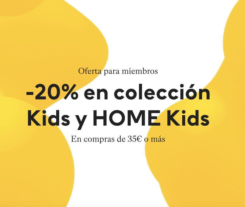 -20% en colección Kids y HOME Kids en H&M