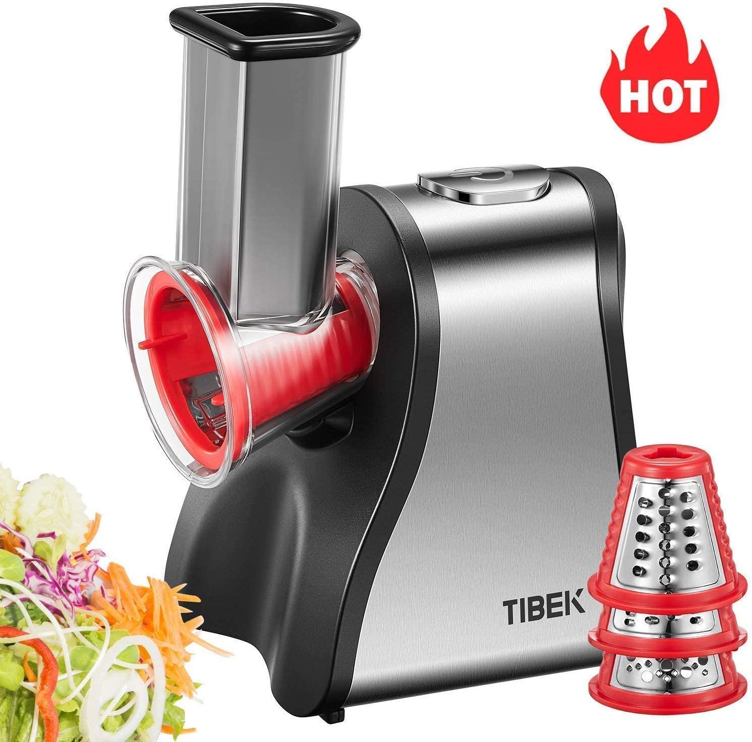 Tibek - Picadora eléctrica de cocina de 200 W