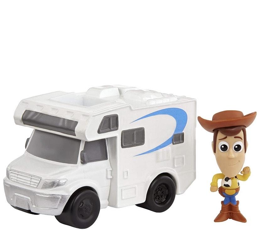 Toy Story 4 Minifigura de Woody y autocaravana,