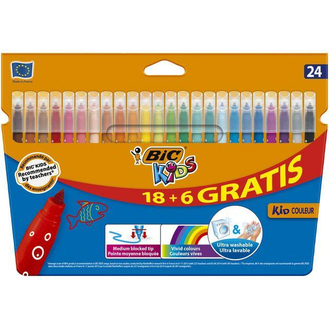 Caja Rotulador kid couleur 18 + 6 Bic