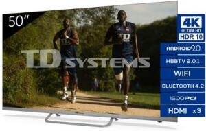 """TD Systems 50"""" 4K SmartTv [Desde España] y 58"""" 359€"""