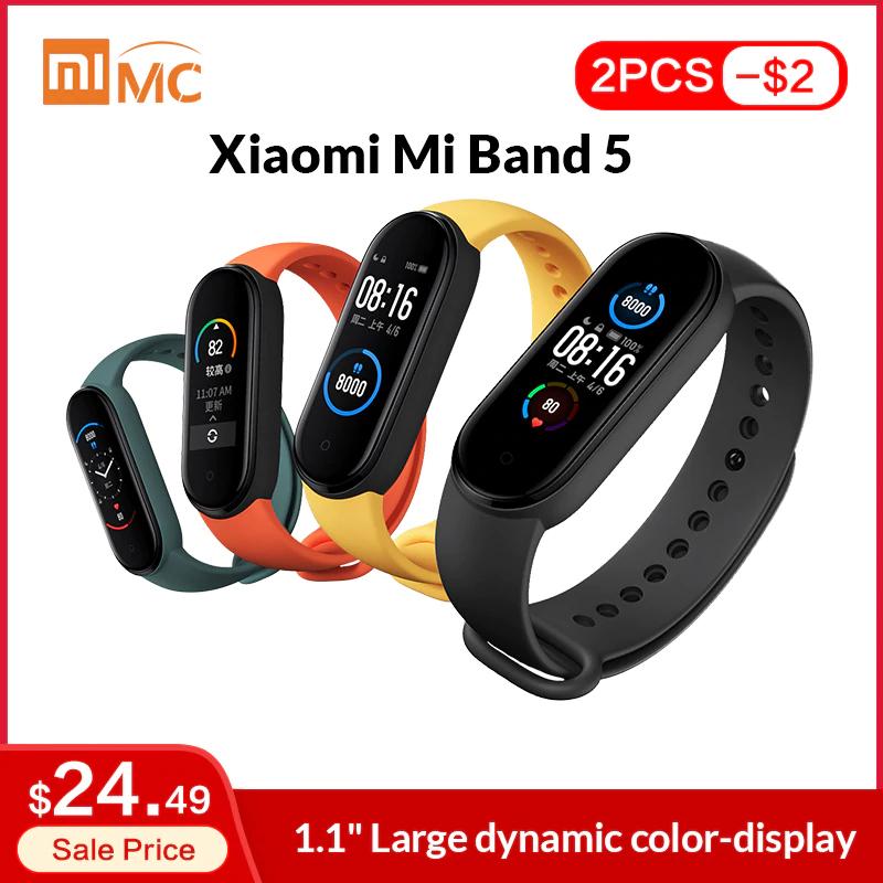 2 x Mi Band 5 por 38,25€ // 1 por 20,29€