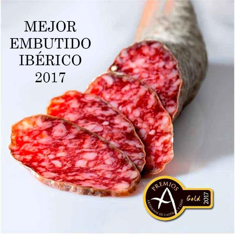 Lote de 1 kg de chorizo y 1 kg de salchichón Ibérico de Bellota Faustino Prieto (Guijuelo) con gran descuento