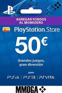 Tarjeta Prepago PSN PlayStation Network 50 Euros ( PS4 PS3 PS Vita)