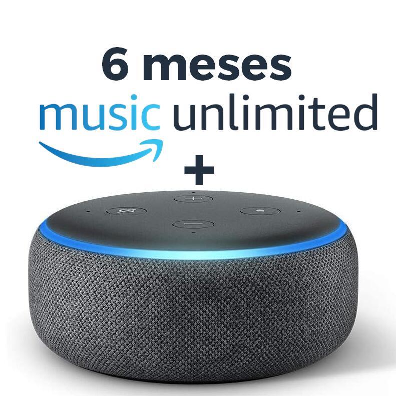 Echo Dot 3ª Generación + 6 Meses Amazon Music Unlimited por 19,99€