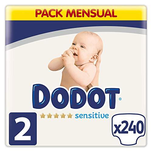 Dodot Sensitive Pañales Talla 2, 4-8 kg, 240 Pañales (0,15€ / unidad)