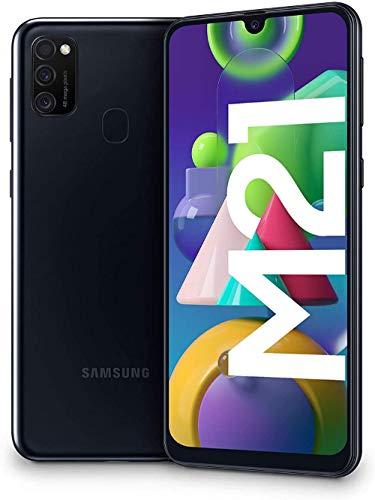 """Samsung Galaxy M21 - Smartphone Dual SIM de 6.4"""" sAMOLED FHD+, Triple Cámara 48 MP, 4 GB RAM, 64 GB"""
