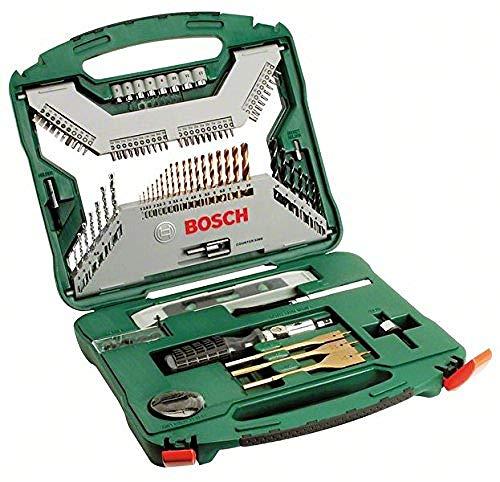Caja Bosh de brocas y herramientas con 100 unidades