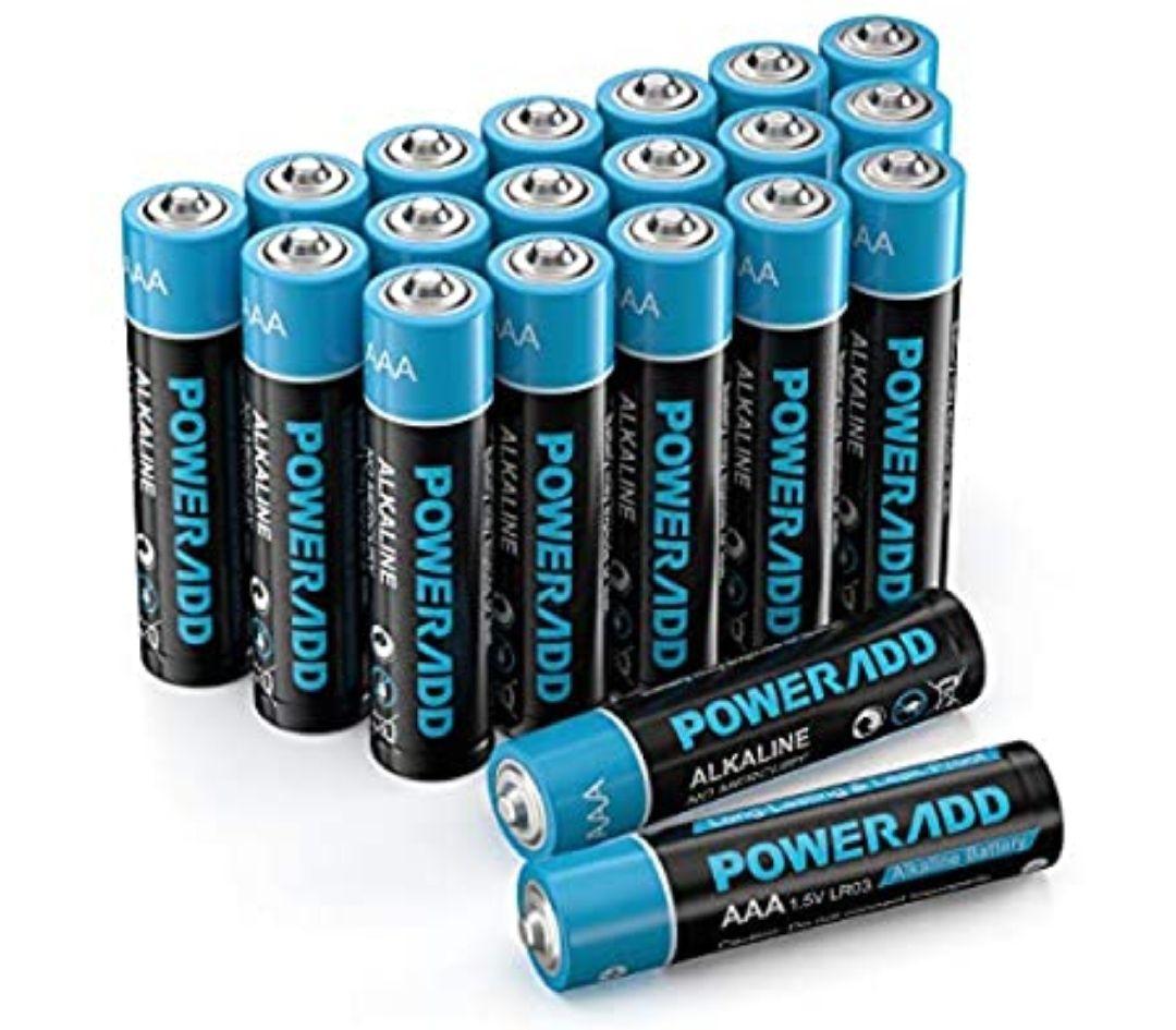 Poweradd Pilas Alcalinas AAA 20 Unidades de 1.5V