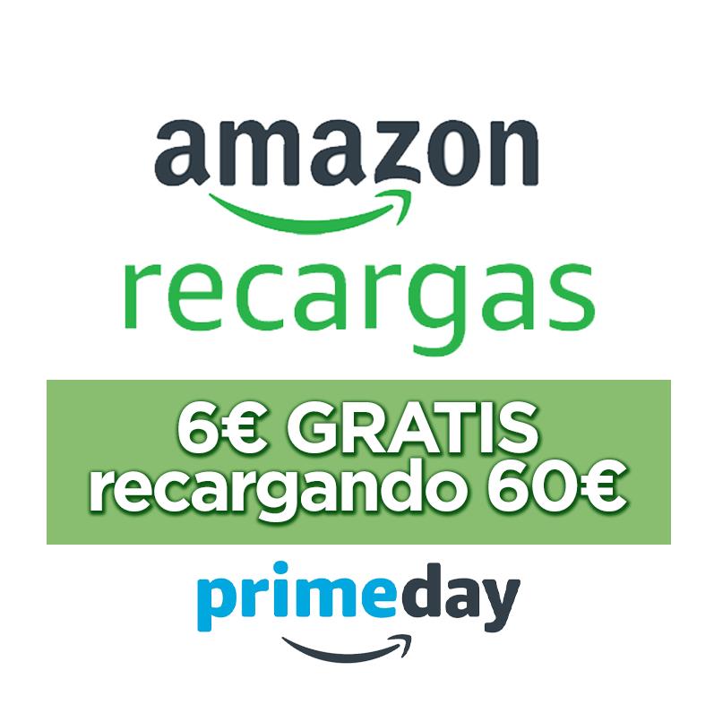 Llévate 6€ al recargar tu cuenta con 60€ en Amazon.es