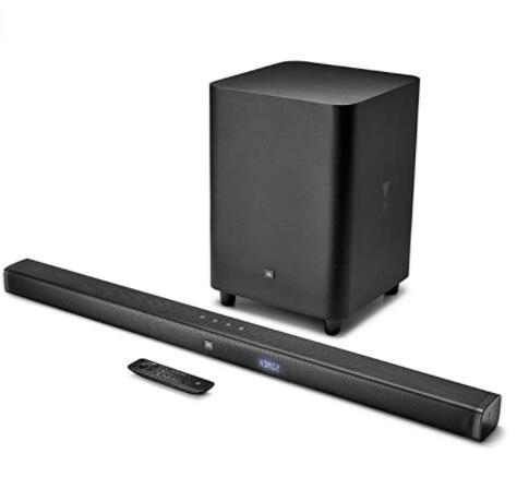 JBL Bar 3.1 - Barra de Sonido Ultra HD 4K con configuración de Canales 3.1 y Altavoz de Graves inalámbrico, Color Negro