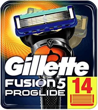 Gillette Fusion5 ProGlide Cuchillas de Afeitar con Tecnología FlexBall, Paquete de 14